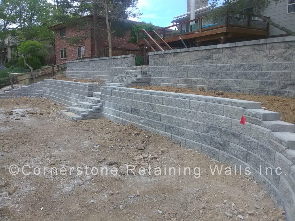 AB Collection grey blend retaining wall