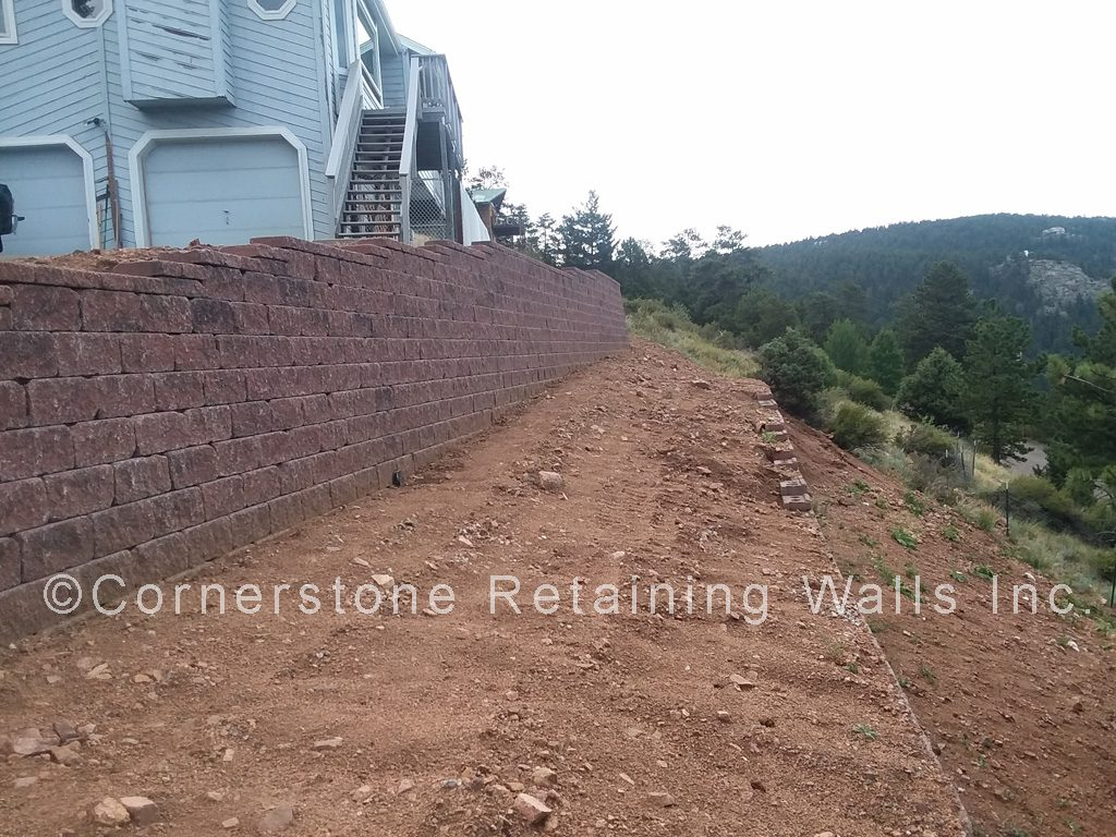 This retaining wall was built with Dover block, red blend from the AB Europa® collection.