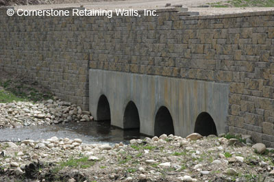13WB access road retaining wall, fraser, colorado
