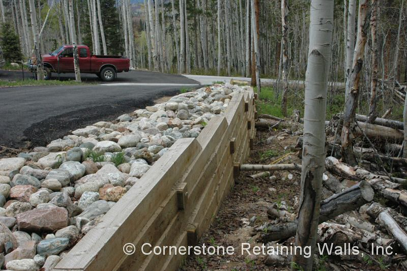 Landscape Timbers Retaining Wall images